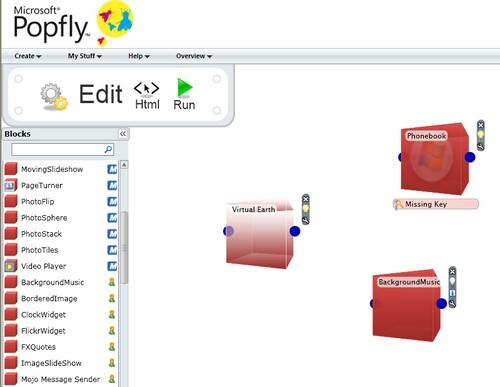 Grafisk Mash-Up programmering med PopFly