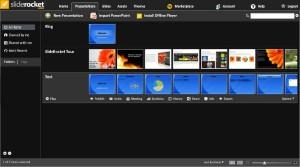 Arbejd, præsenter og del. SlideRocket har det hele i en meget intuitiv brugerflade.