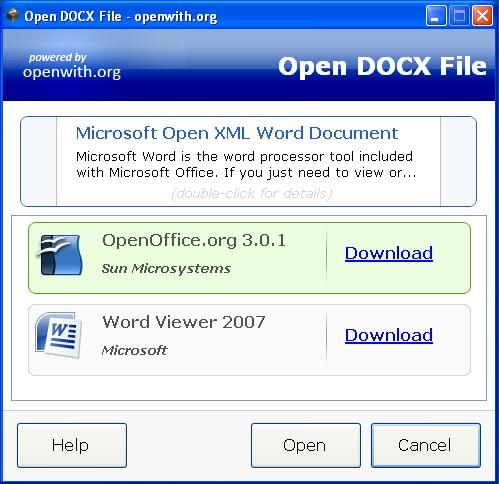 Her er modtaget et dokument fra Microsoft Word 2007. Hvilket program kan man bruge hvis man ikke lige har sådan en installeret?
