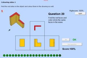 I denne ThinkLet skal man undersøge figuren og angive på arbejdstegningen hvilke flader der skal være røde.