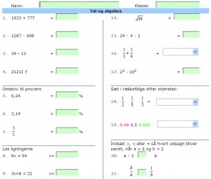Gratis matematik på dansk