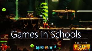 """Badge fra kurset """"Games in Schools"""" - en af de mange kurser som tilbydes gennem European Schoolnet Academy"""